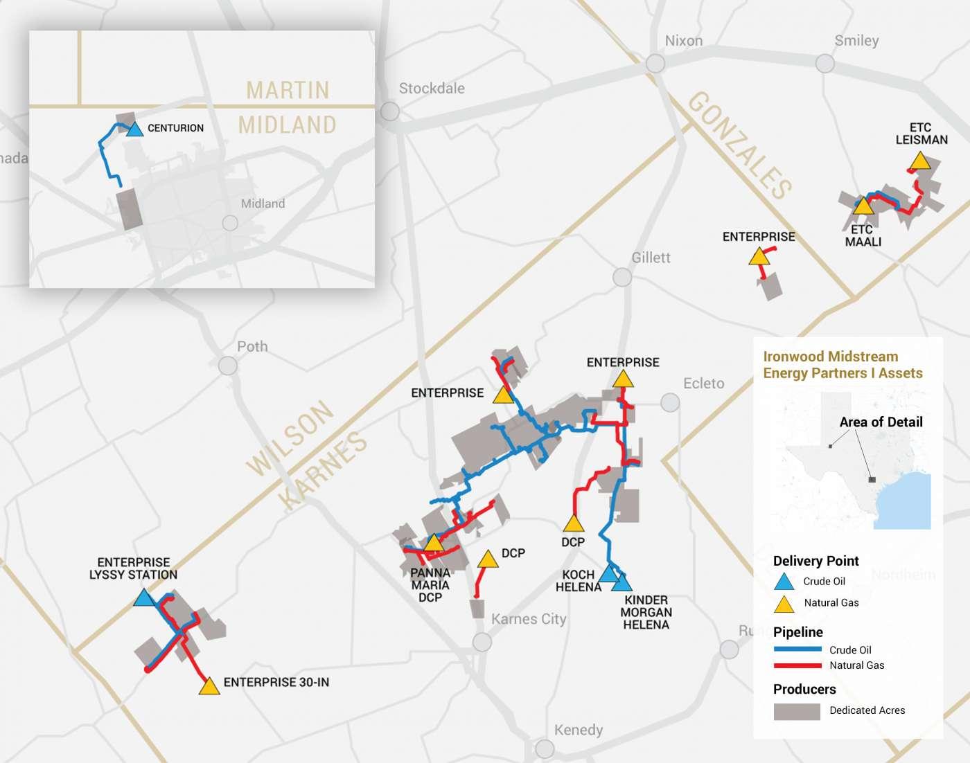Ironwood I operations map