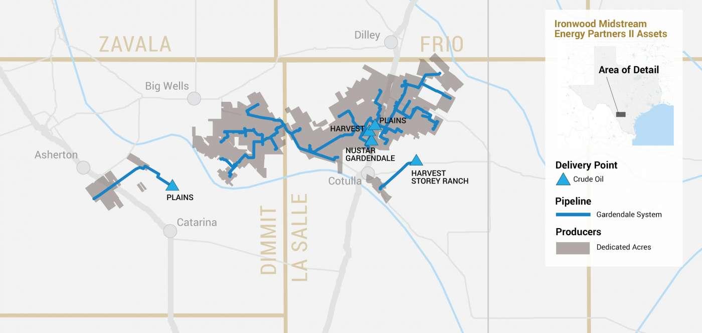 Ironwood Midstream II operations map