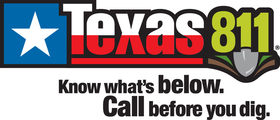 Texas 811 warning, call before you dig