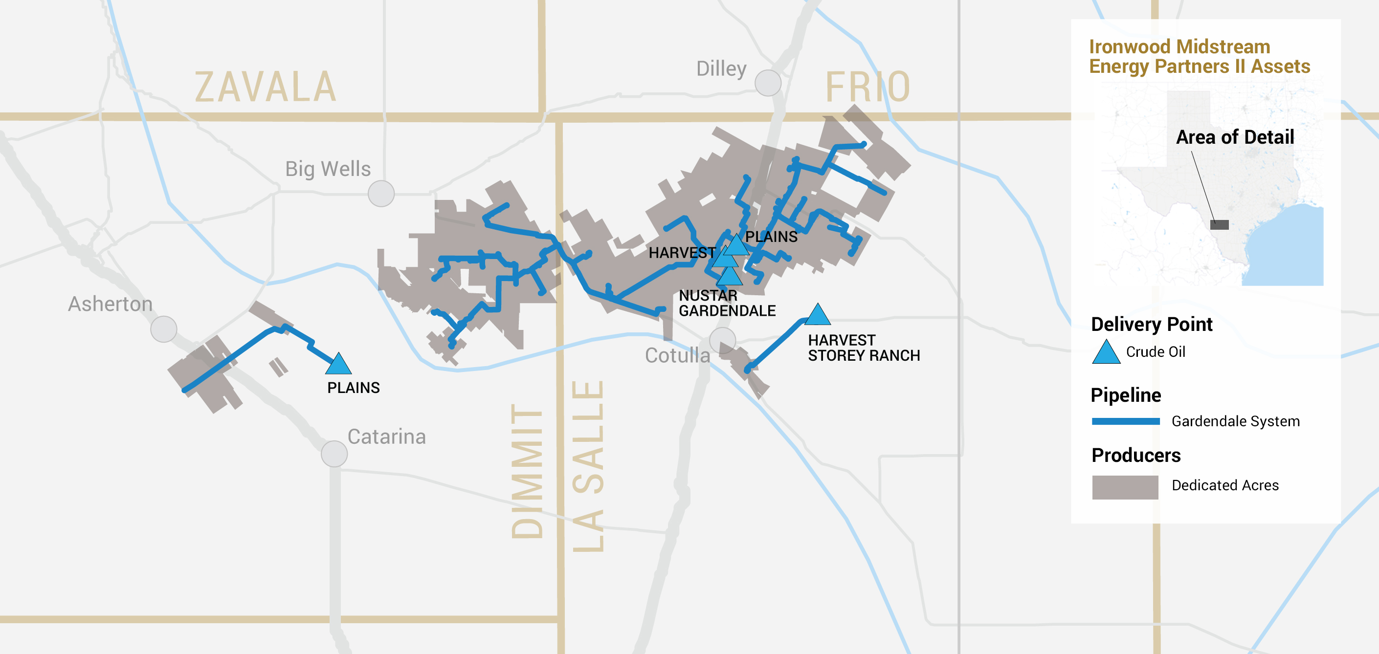 Ironwood Midstream II operations map